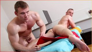 GAYWIRE – Drago Lembeck and His Friend Paul Breeding On A Massage Table