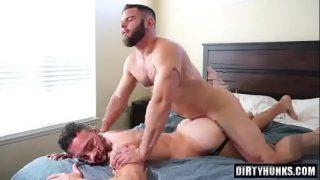 Hot beautiful gay bear couple fucking bareback
