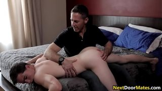 Pissed of dad punishes his bratty step son