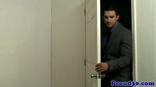 Clip – Mature Gay Stud Visits Partners Office, Porn – HD Video