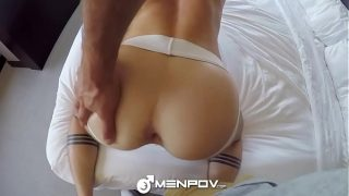 MenPOV POV fuck with hairy chested Aiden Hart